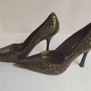 BCB Girls Alligator Pattern Heels SZ 9 1/2